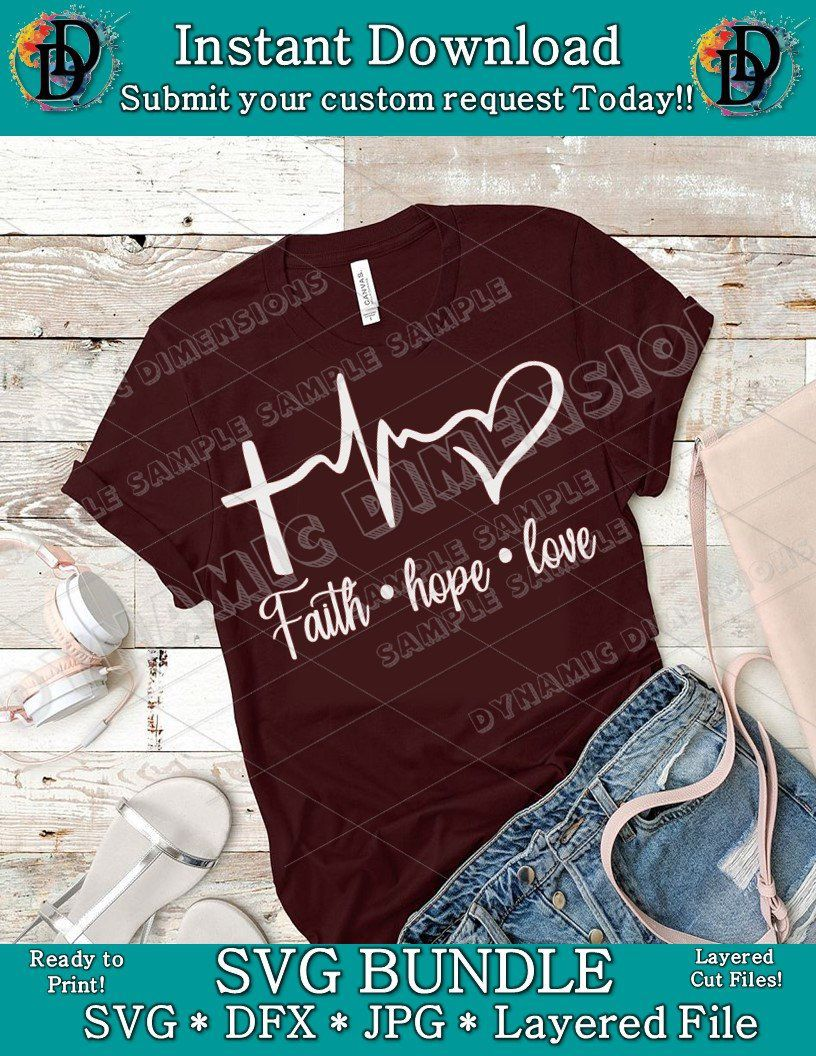 hight resolution of excited to share this item from my etsy shop faith hope love bundle clip art commercial use clipart christian silhouette bible cross