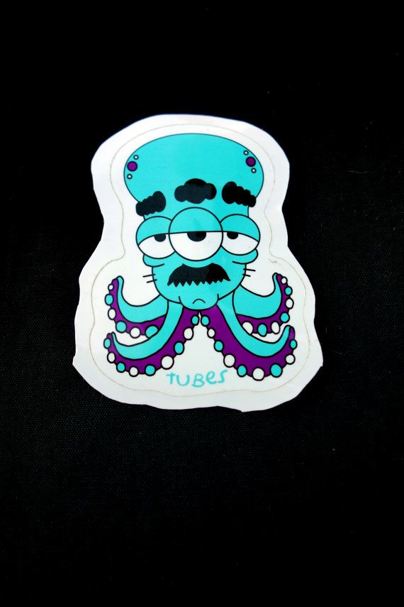 Octopussy Sticker By Tubes: Die Cut, High Quality, Weather Proof & Weird.