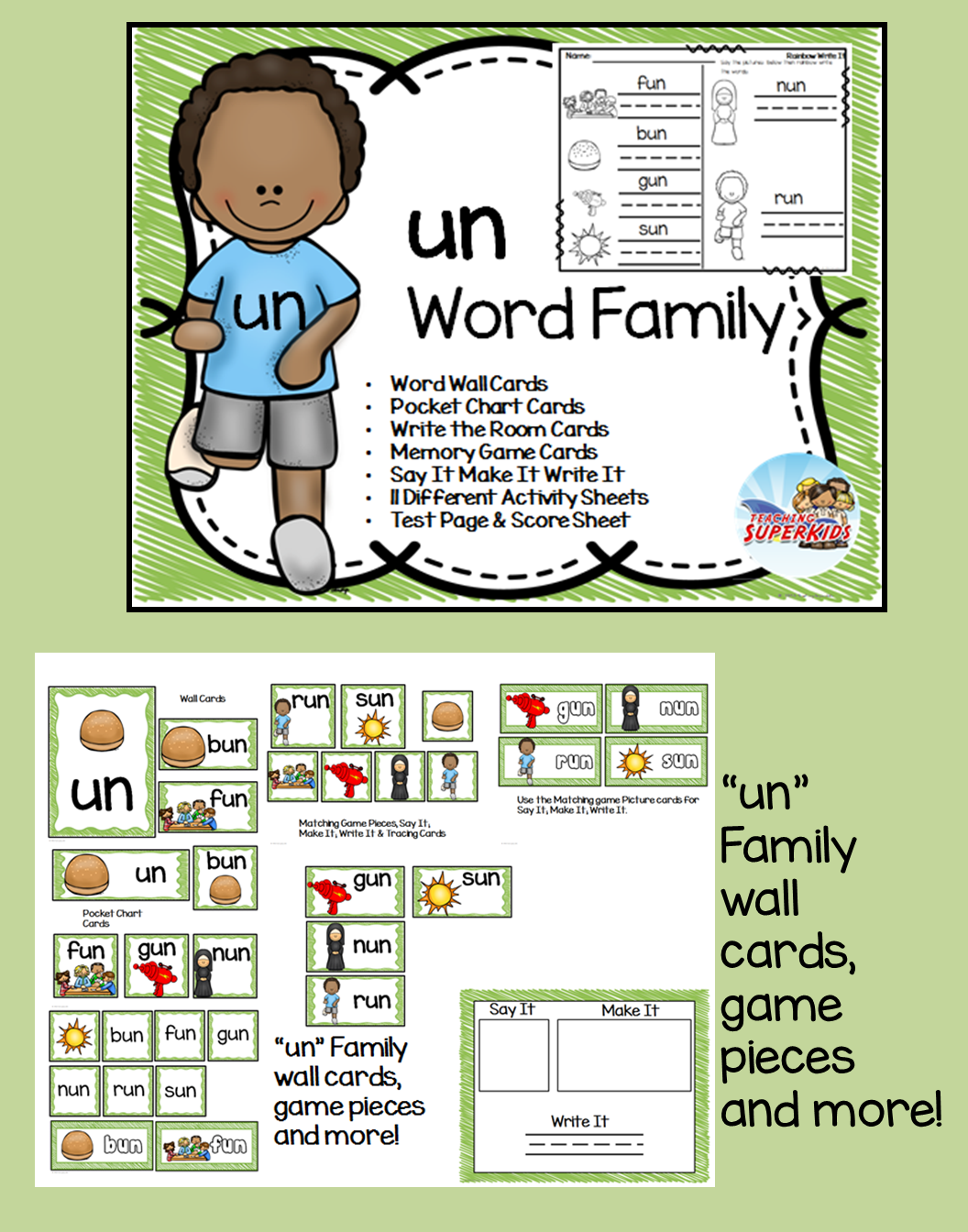 Un Word Family Centers