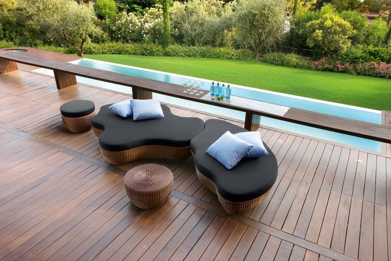 Gartenbett rattan  Aluminium garden bed Les Iles Collection by Roberti Rattan ...