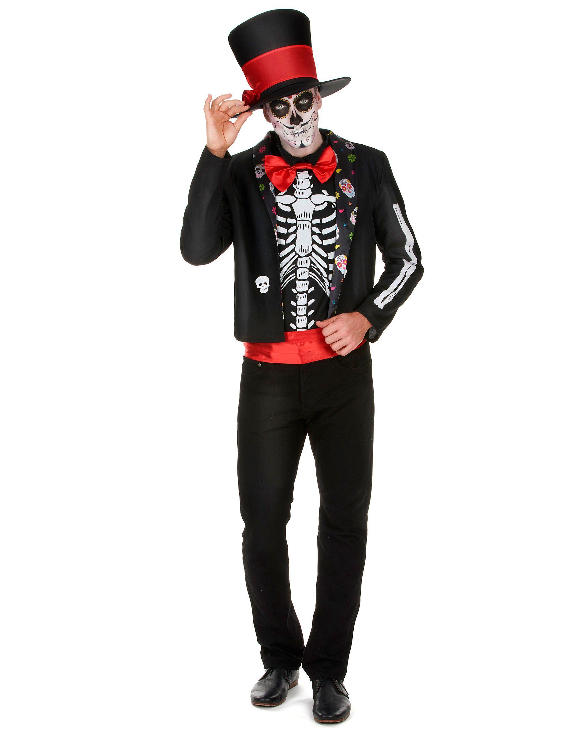 Disfraz de esqueleto Día de los Muertos hombre  Este disfraz del Día de los  Muertos 3741b32f08d43