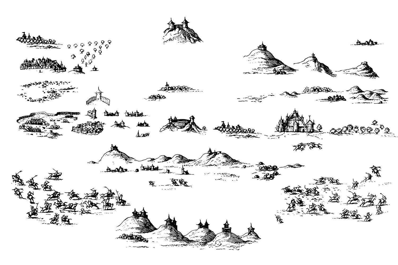 Fantasy Map Symbol Set 2 Illustrator Png Fantasy Map Symbols Fantasy Map Map Symbols Map Icons