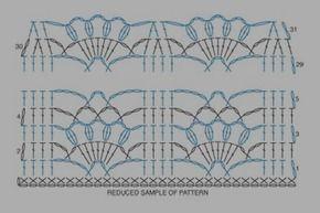 crochet scarves diagram - Buscar con Google