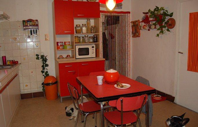 deco cuisine retro rouge Rouge and Plan de travail - Plan De Travail Cuisine Rouge