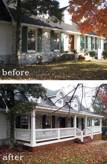 Before And After 7 Sensational Front Porch Additions Porch