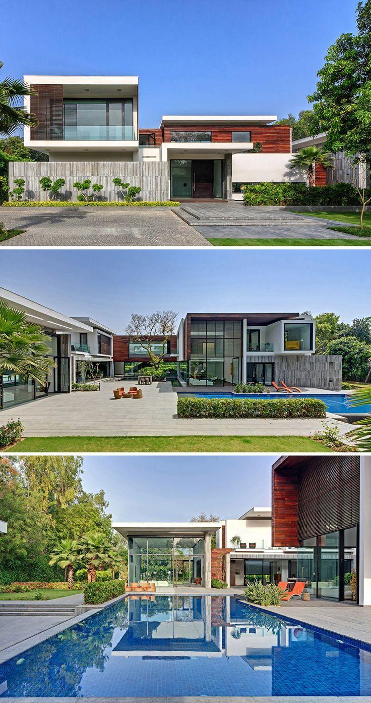 Three Trees House by DADA & Partners // New Delhi, India:   Fachadas ...
