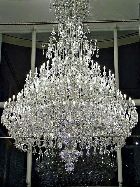 Baccarat crystal chandelier by megara liancourt via flickr
