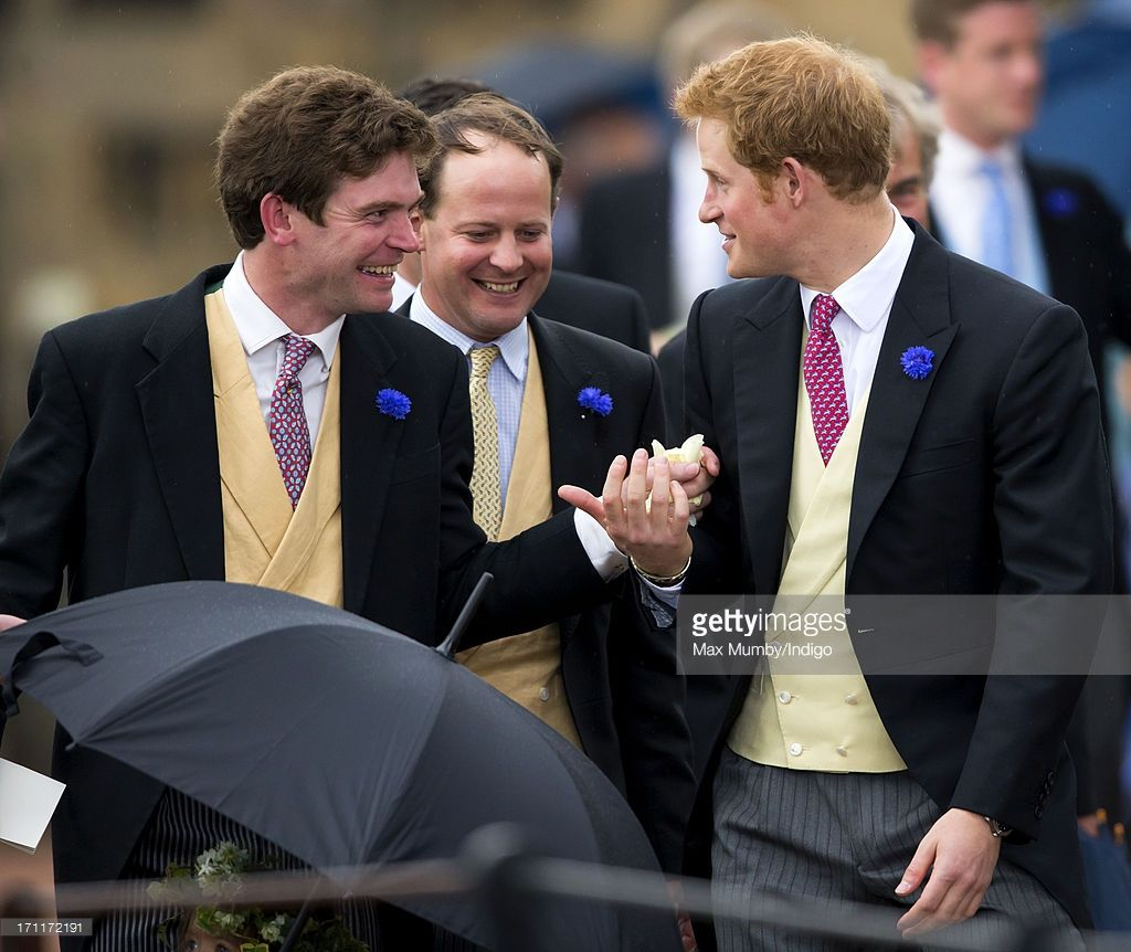 James Meade And Prince Harry Attend The Wedding Of Lady Melissa Percy Thomas