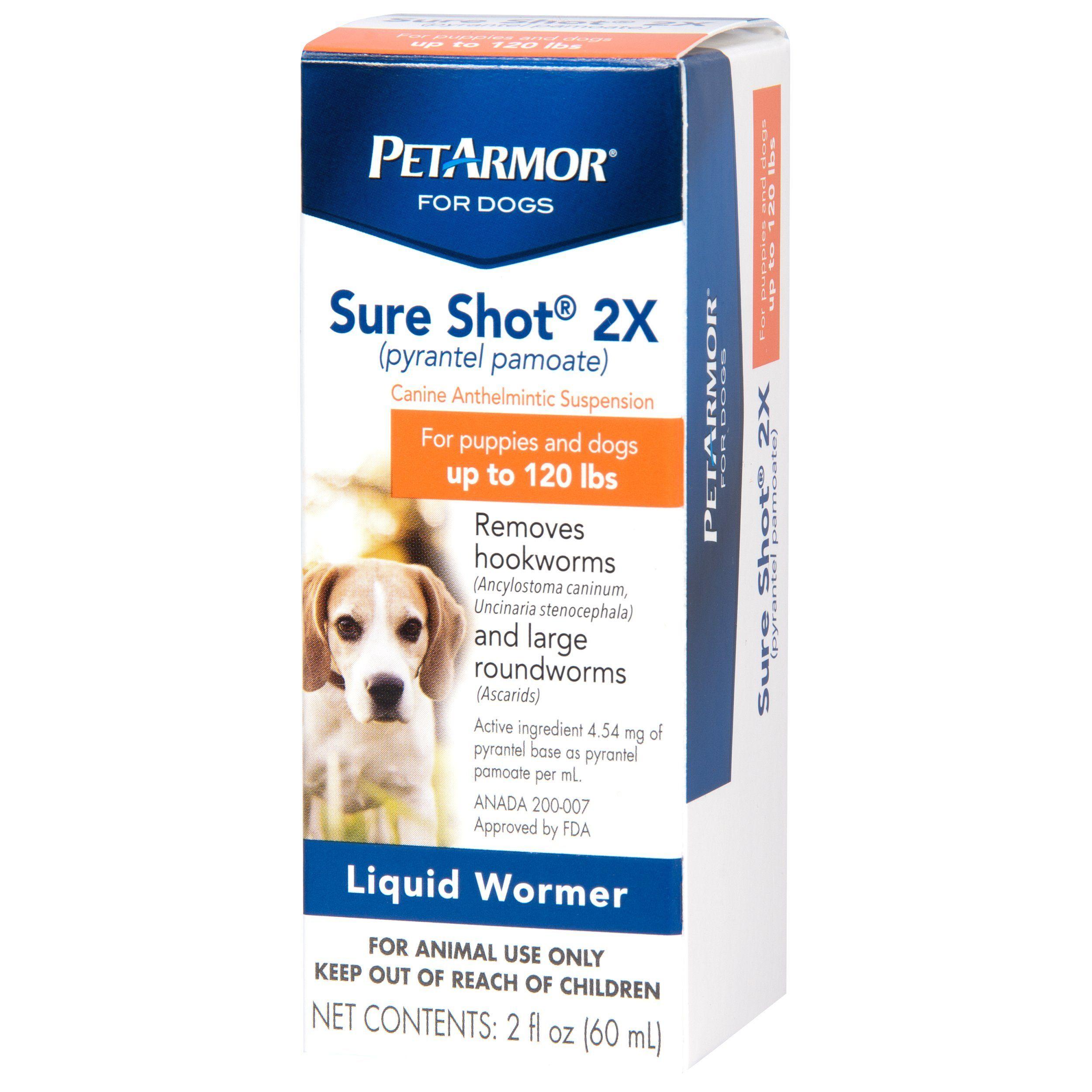 Petarmor Sure Shot 2x Pyrantel Pamoate Liquid De Wormer Dogs 2