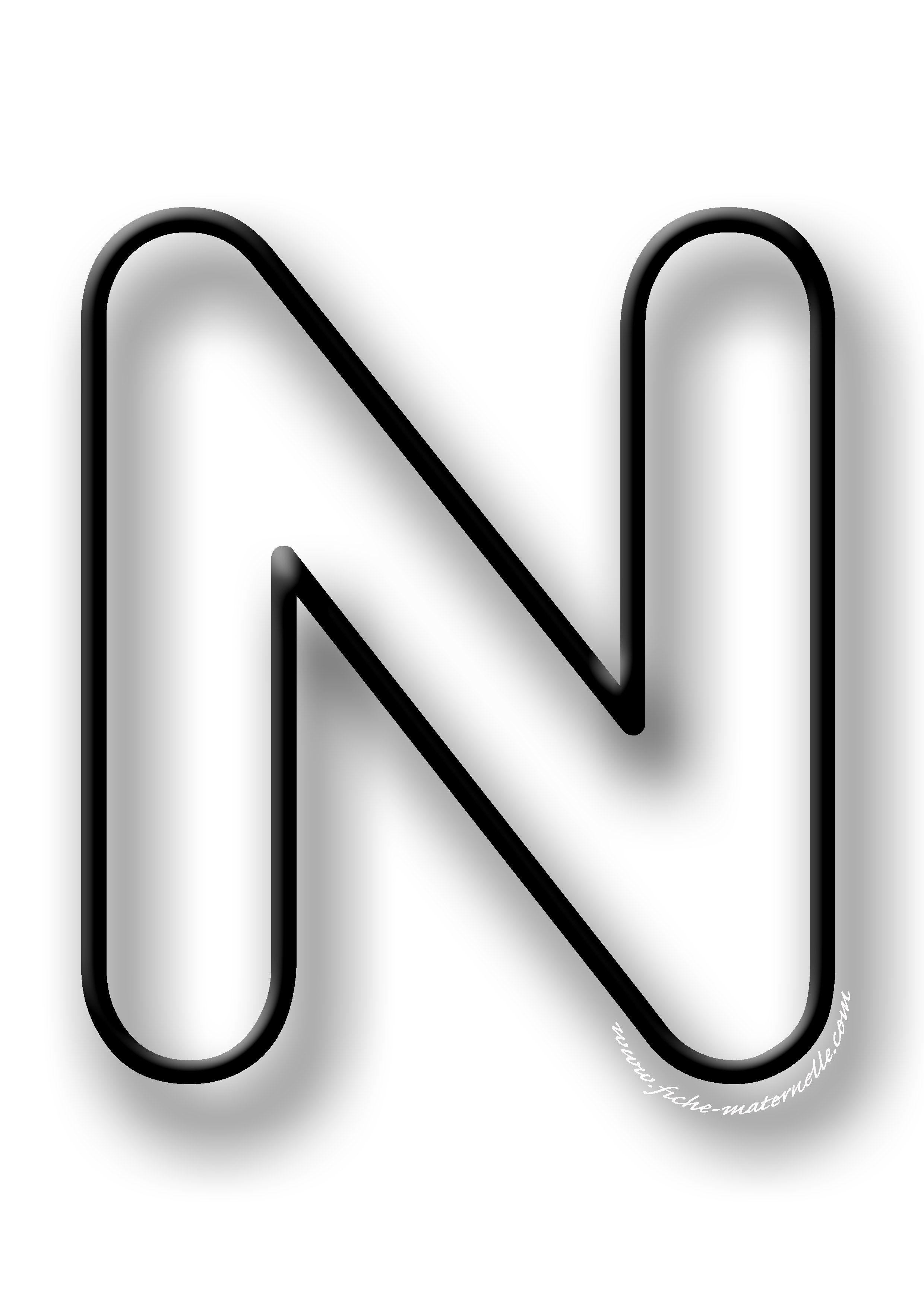 Coloriage De La Lettre N Lettres De L Alphabet Imprimables Lettre A Lettre Alphabet A Imprimer