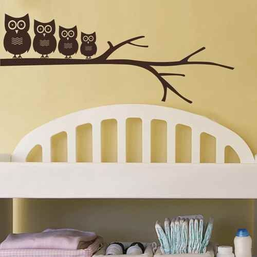 Owls On The Tree Wall Decal Owl Nursery Decal Vinyl Wall Art Baby ...