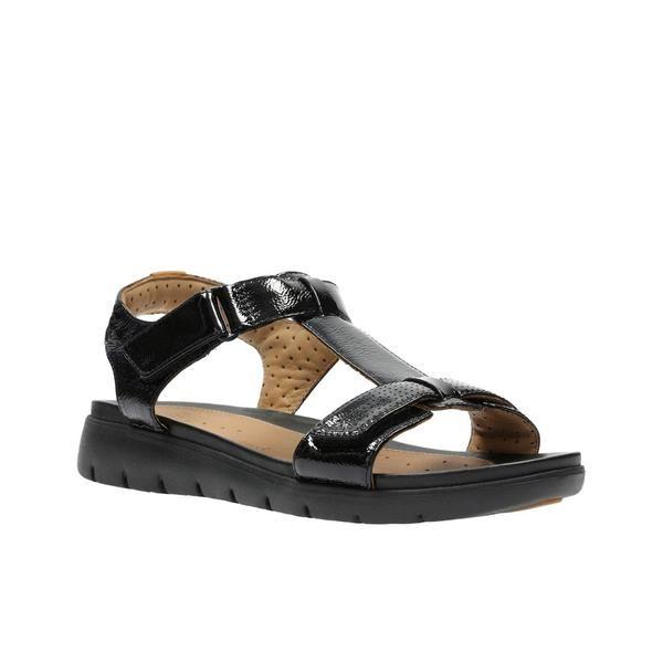 7f171a0b75ec womens-black-patent-clarks-black-pat-un-haywood-sandals