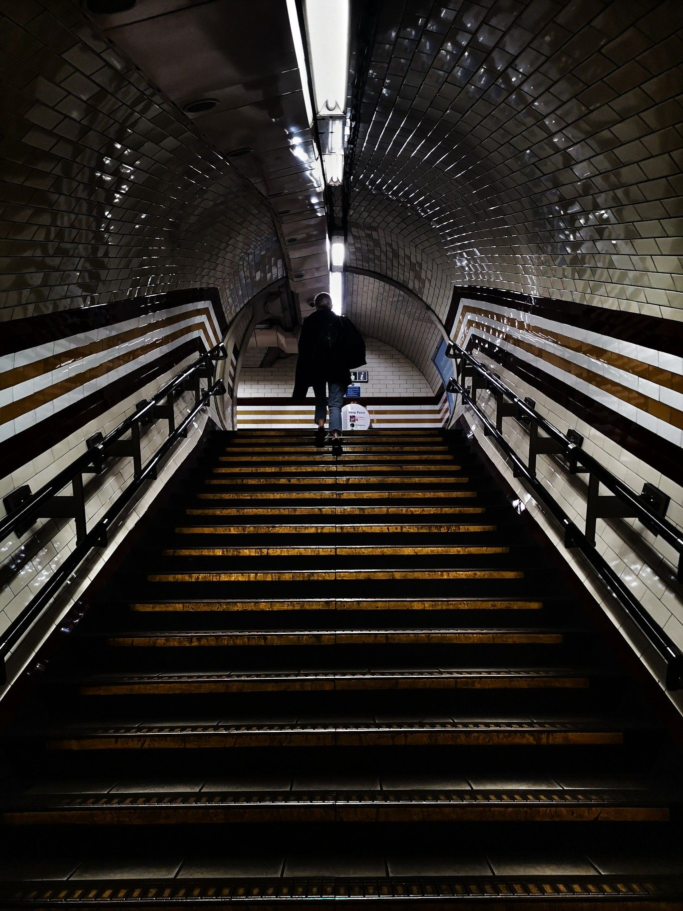 An underground tube station in London, UK