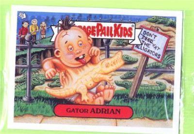 Topps Garbage Pail Kids Bonus Card Ans3 B3 Gator Adrian Rare Gpk Garbage Pail Kids Garbage Pail Kids Cards Pail