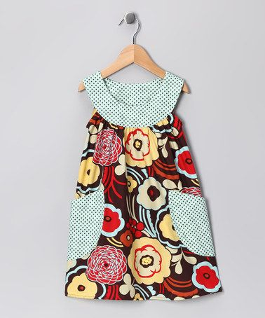 Take a look at this Brown Poppy Pocket Yoke Dress - Toddler & Girls by SILLY MILLY on #zulily today!