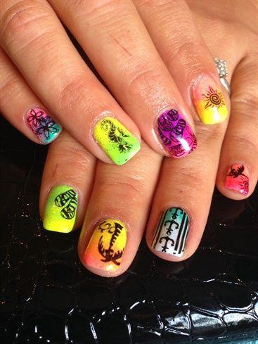 Summer Neon Nails By Veeahsworld Nail Art Gallery Nailartgallery