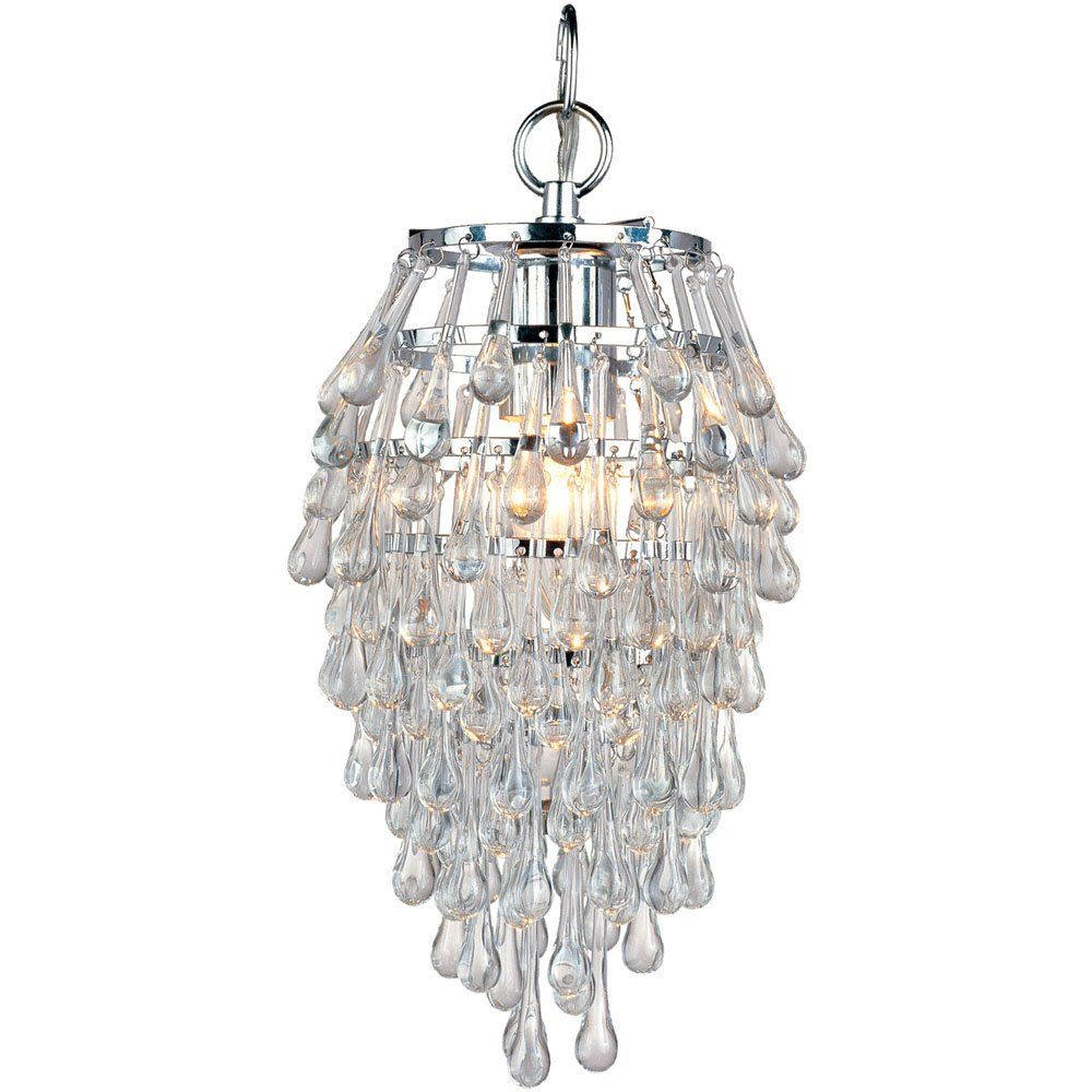 Af Lighting 4950 1h Crystal Teardrop One Light Mini Chandelier In Chrome Small Crystal Light Fixture Mini Chandelier Crystal Chandelier Crystal Light Fixture