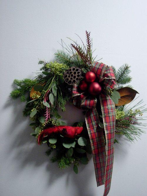 Christmas Wreath at Limelight Floral Design Hoboken NJ Store