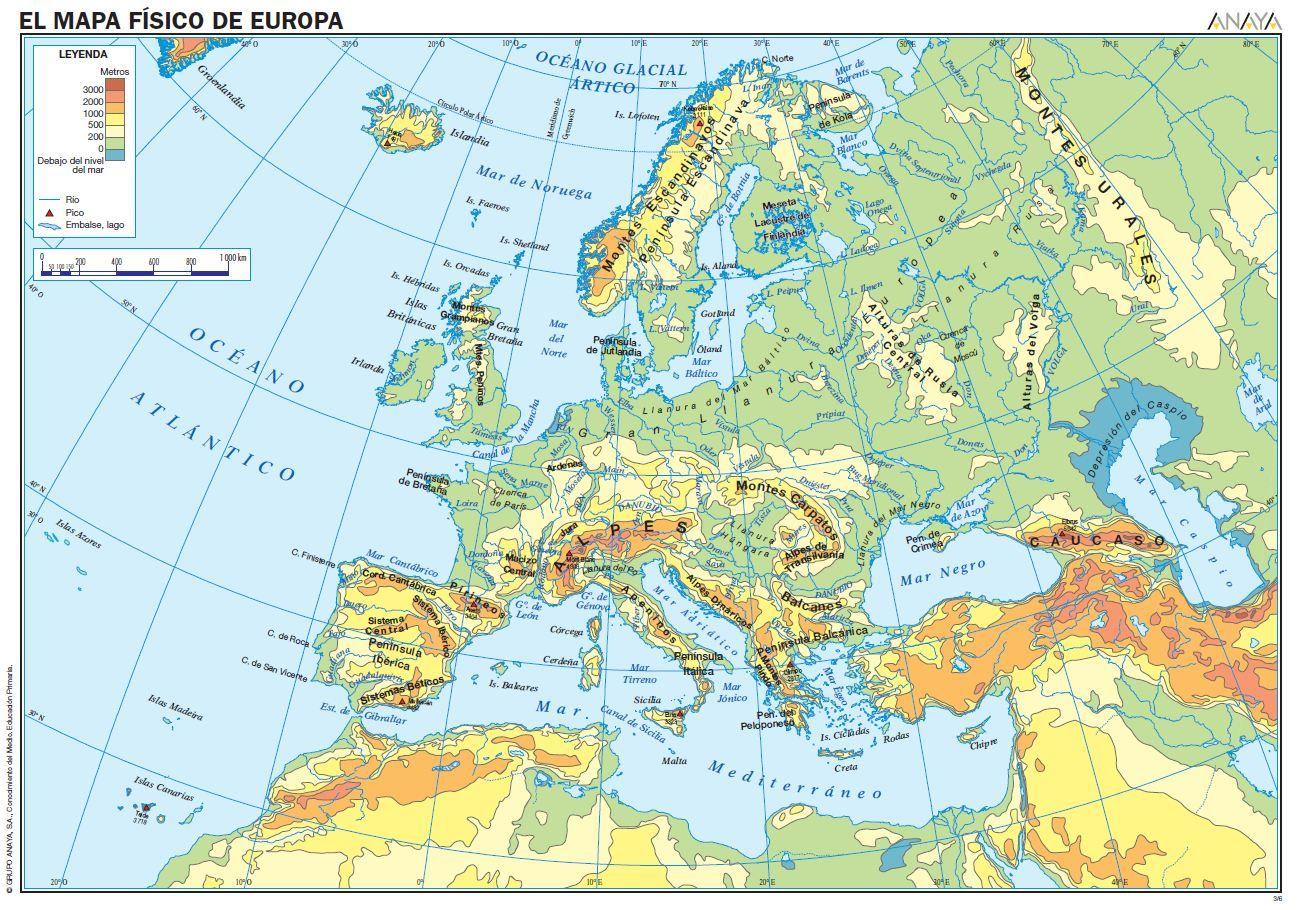 Mapa Fisic De Europa.Mapa Fisico De Europa Mapa Fisico De Europa Mapa Fisico