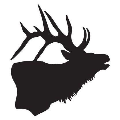Elk Silhouette Decal Wood Elk Silhouette Silhouette Art Silhouette