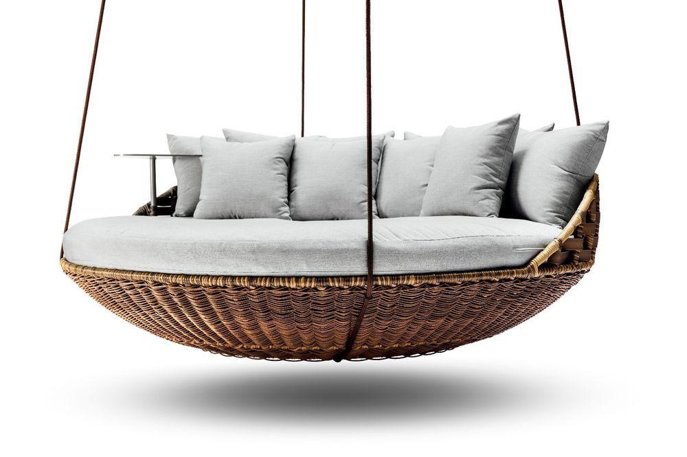 Best Outdoor Indoor Extra Large Luxury Hanging Rattan Day Bed 400 x 300