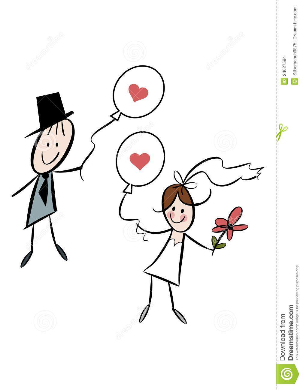 Funny Bride And Groom Clipart Cute Cartoon Bride And Groom ...