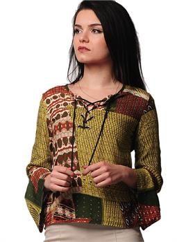 Bayan Bluz Ipli Kilim Desen Yesil Kadin Giyim Modabenle 2016 Moda Giyim Modelleri En Uygun Fiyat Avantajiyla Modabenle Com Kadin Kadin Giyim Ve Giyim