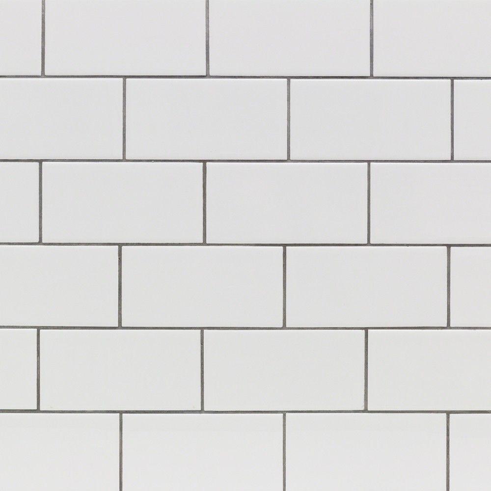 3x6 Basic White Ceramic Wall Tile Polished In 2020