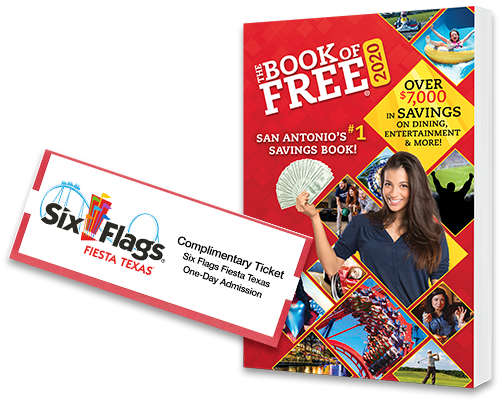 2020 Book Of Free With One Six Flags Fiesta Texas Ticket Book Of Free Fiesta Texas Tickets Six Flags Fiesta Texas Six Flags