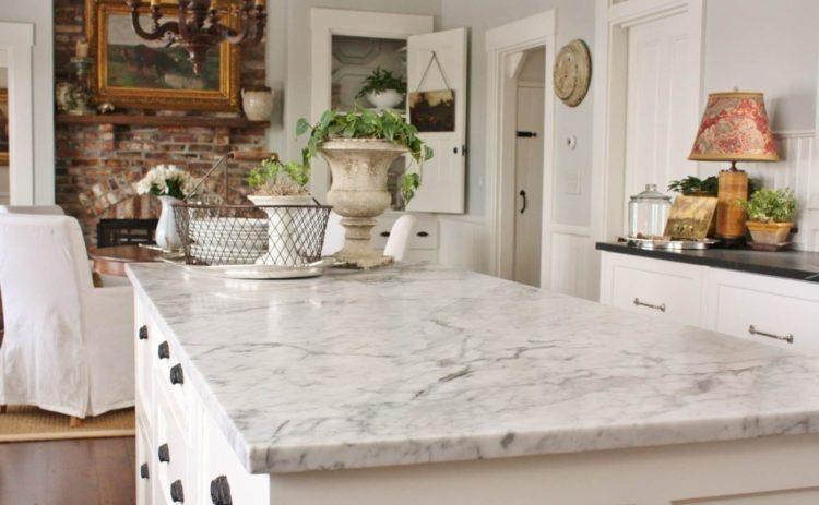 20 Schone Kuchen Mit Carrara Marmor Arbeitsplatten Arbeitsplatten