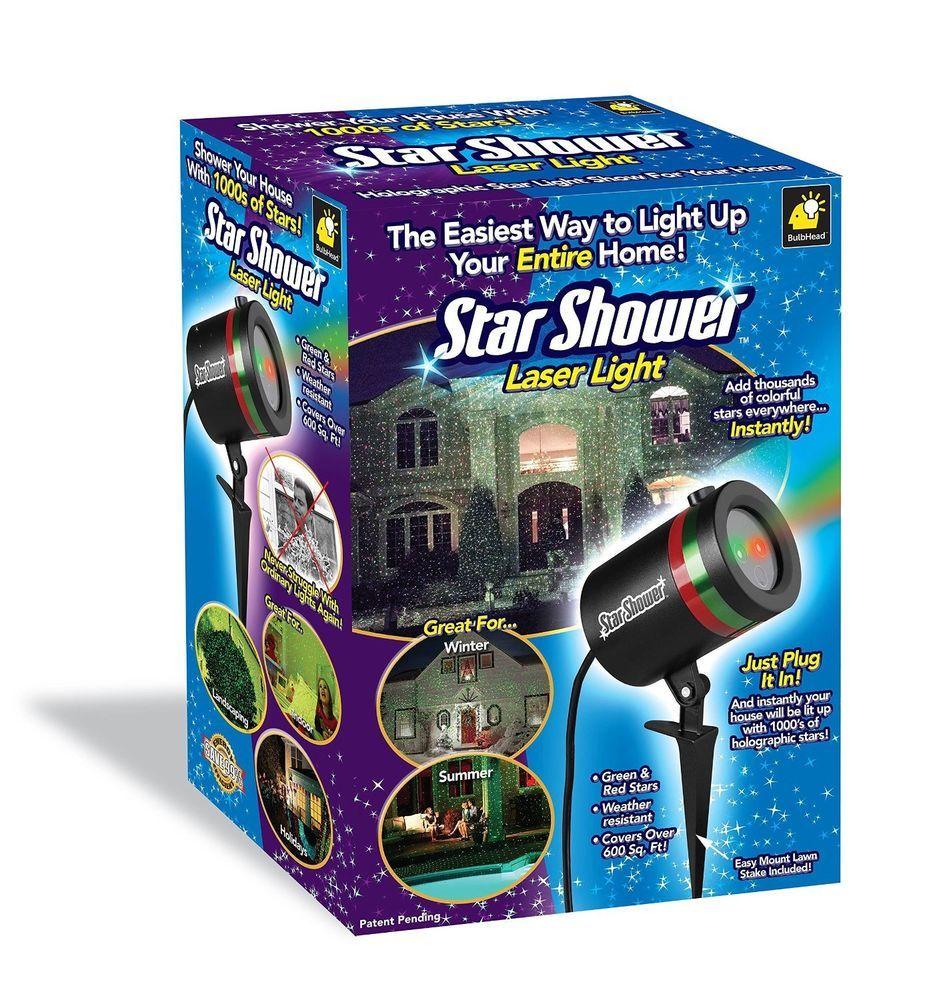 Outdoor Laser Christmas Lights Star Shower Projector Weather Resistant Color New Starshower With Images Star Shower Laser Light Star Shower Laser Christmas Lights