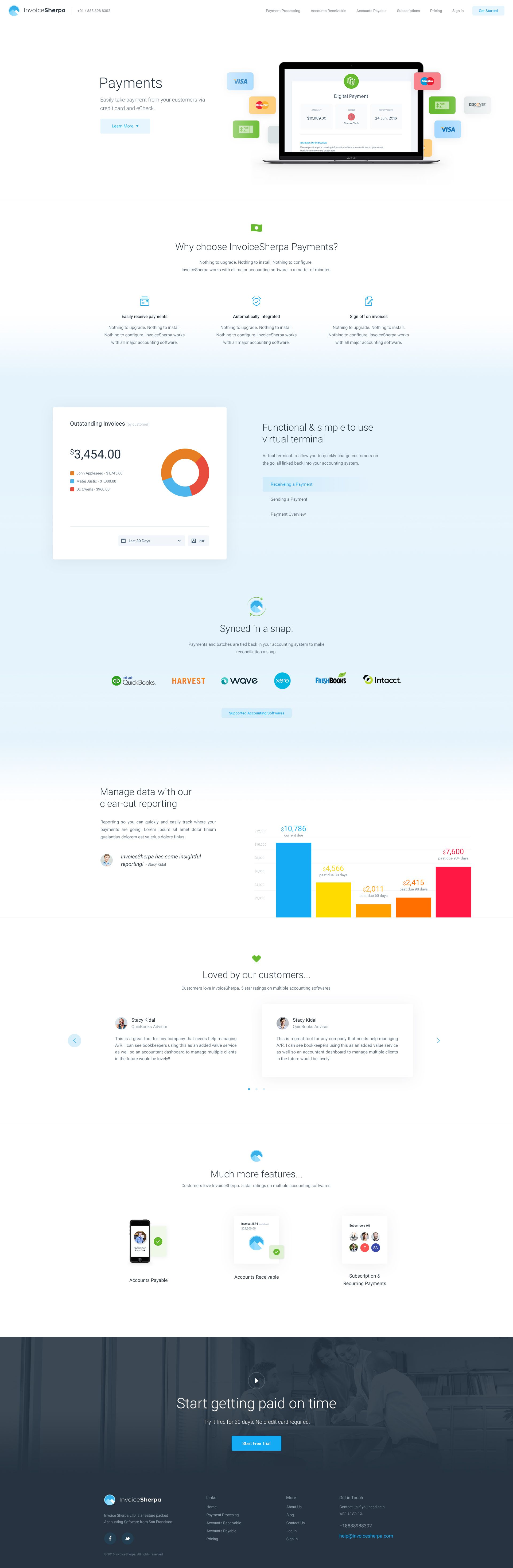 Invoice Sherpa Payments Page (With images) Web design