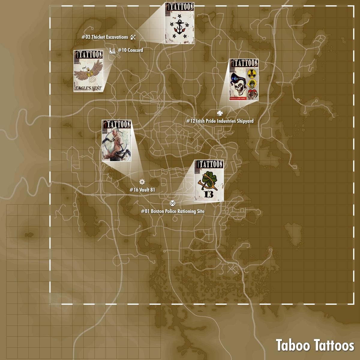Taboo Tattoos locations | Videospiele, Computerspiele und Spiele