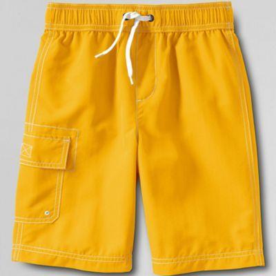 Lands' End Yellow boys' cargo swim shorts- at Debenhams.com