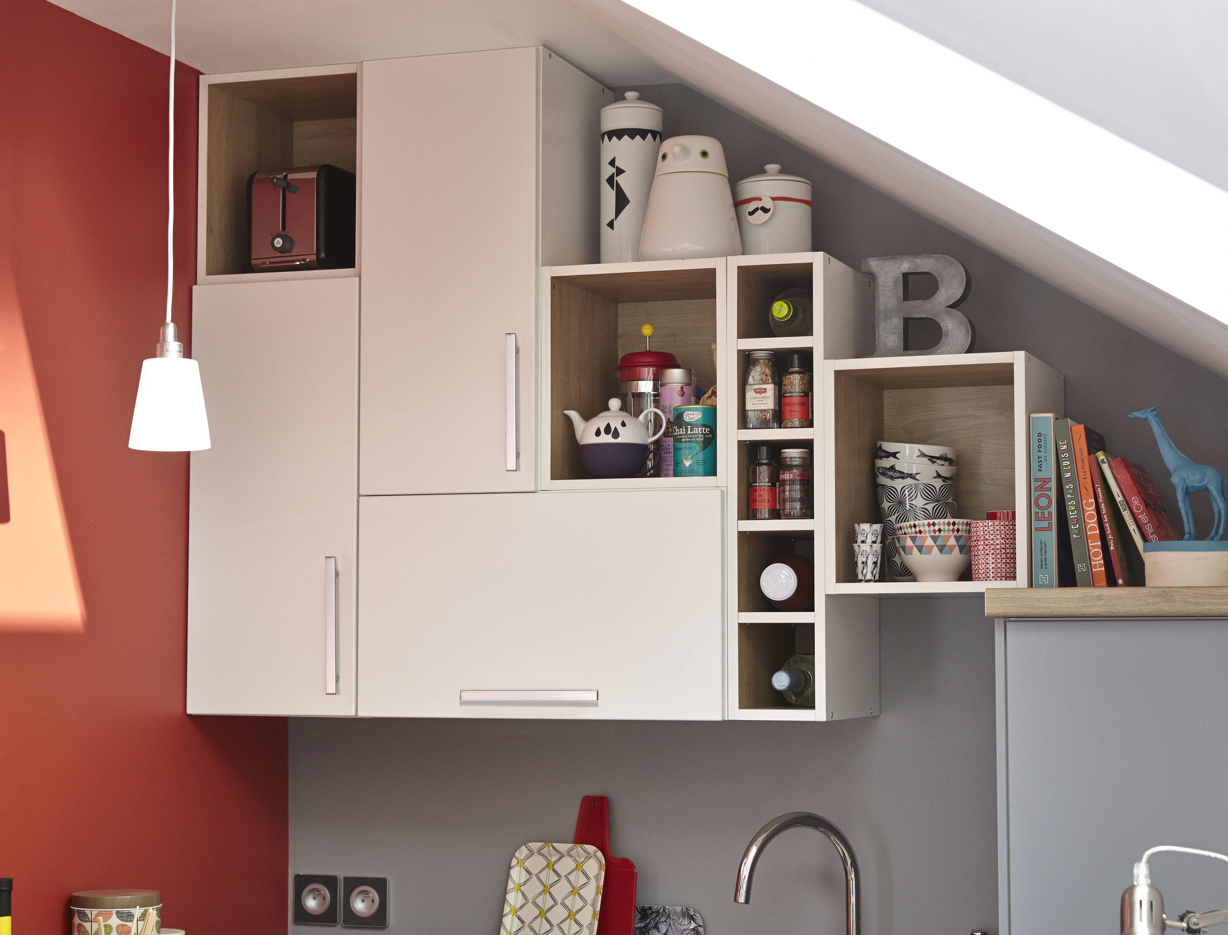 Des rangements dans la cuisine jusqu\'au plafond. #leroymerlin ...
