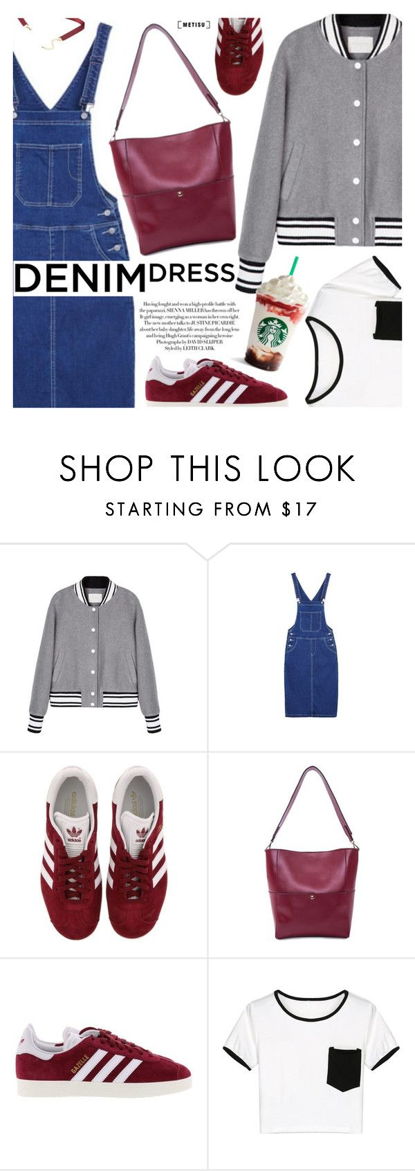"""""""Casual Style:Denim Dress"""" by metisu-fashion ❤ liked on Polyvore featuring adidas, WithChic, polyvoreeditorial, polyvoreset and metisu"""