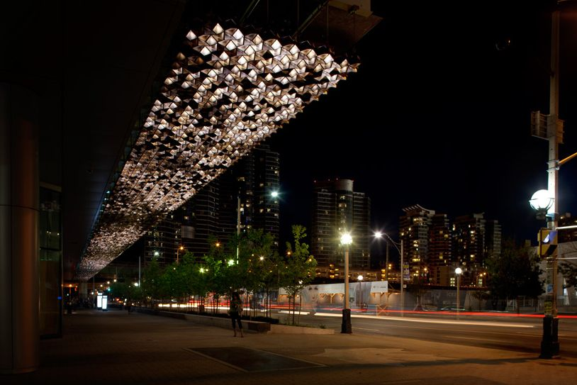 Maple Leaf Square - Canopy by United Visual Artists & Maple Leaf Square - Canopy by United Visual Artists | Lighting ...