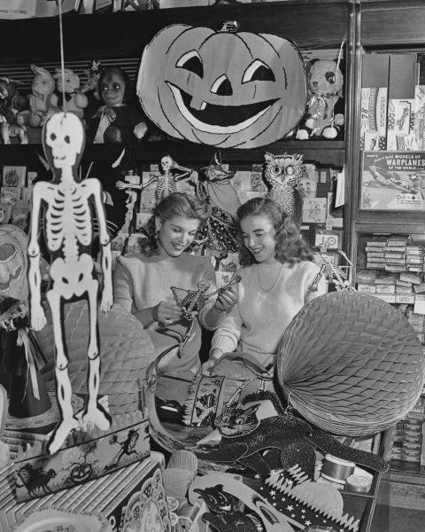 What Halloween Was Like the Year You Were Born Novelty store - vintage halloween decorations