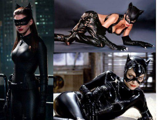 Michelle pfeiffer halle berry anne hathaway as catwoman