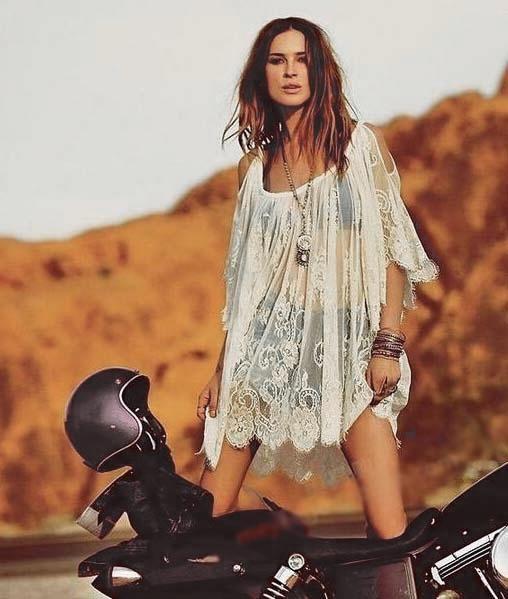 Afficher l 39 image d 39 origine style dentelle boh me romantique hippie pinterest boh me - Boheme chic femme ...