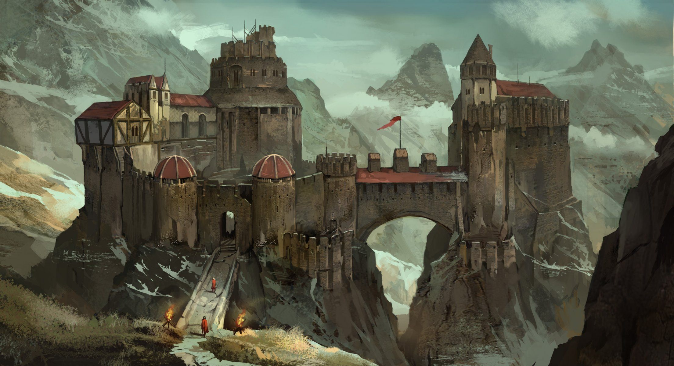 Image result for mountainous medieval fort | Medieval Inspiration ...