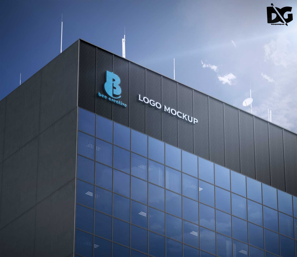 Free Download Office Building Mockup Psd Premium Mock Up Building Logo Free Logo Mockup Great Buildings And Structures