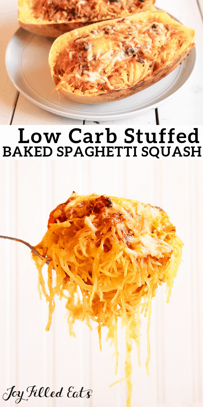 Italian Baked Spaghetti Squash - Low Carb Gluten-Free THM S