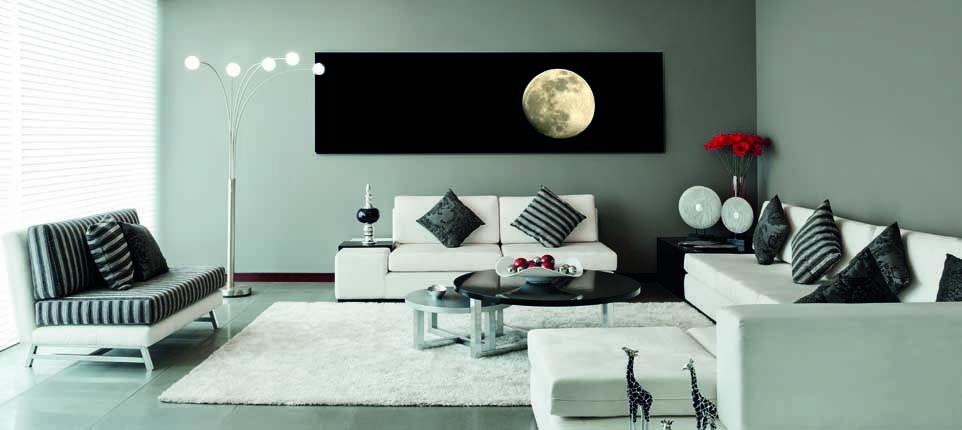 Keukenglas met LED verlichting als muurdecoratie in ieder gewenst ...