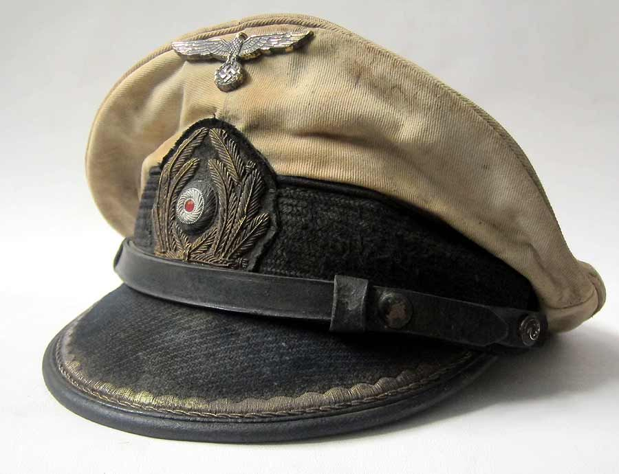 af28022e655 Top of the range reproduction Kriegsmarine U-Boat Captains Peaked cap made  in Germany by the new owners of the EREL company trademark.