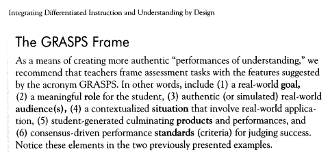 Making Authentic Assessments Tomlinson And Mctigue Integrating Differentiated Instruction And Understanding Differentiated Instruction Assessment Lesson Plans