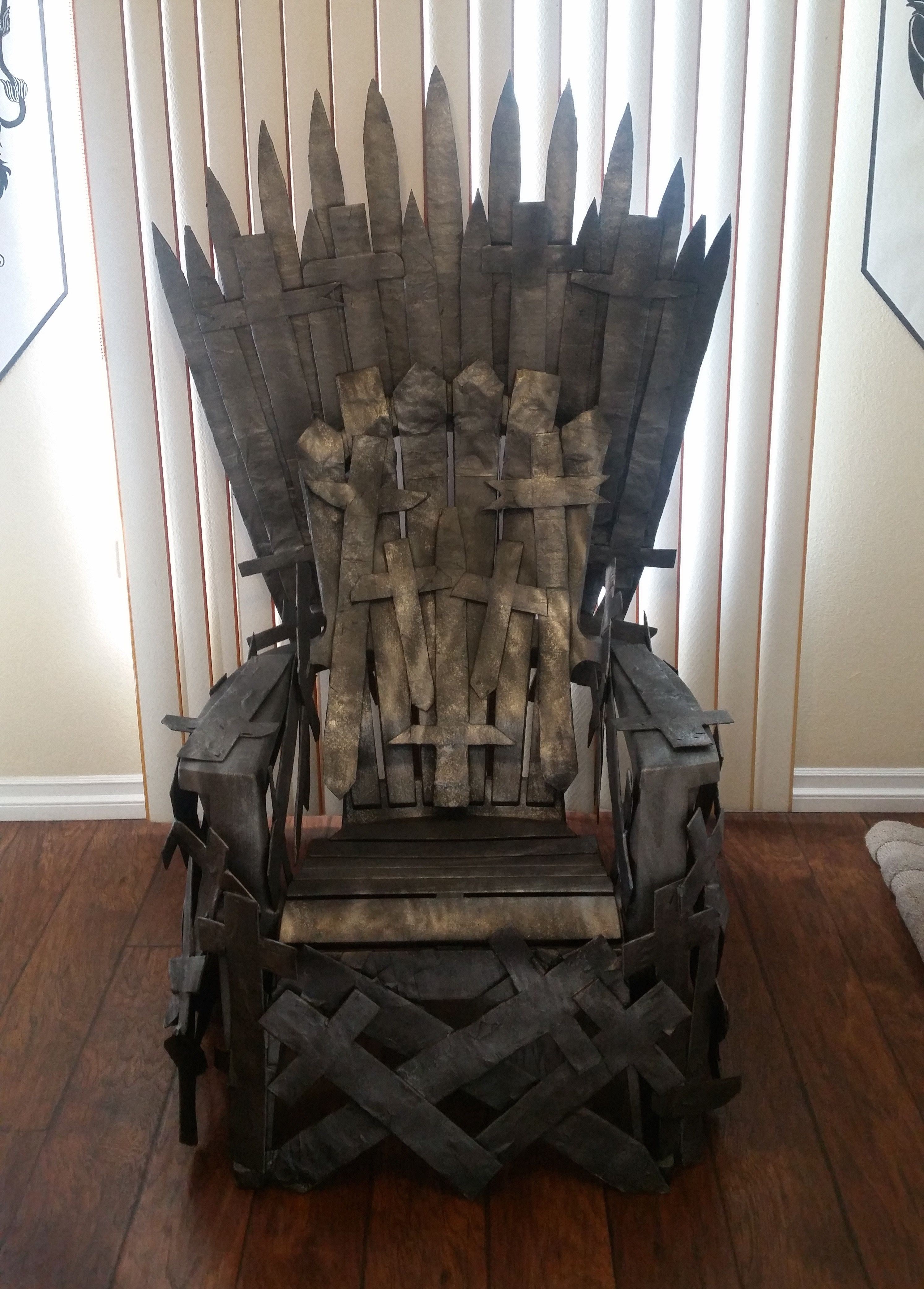 I Created My Own Throne I Used A Lawn Chair From Target I Also