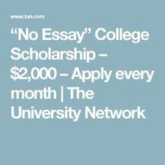 no essay college applications