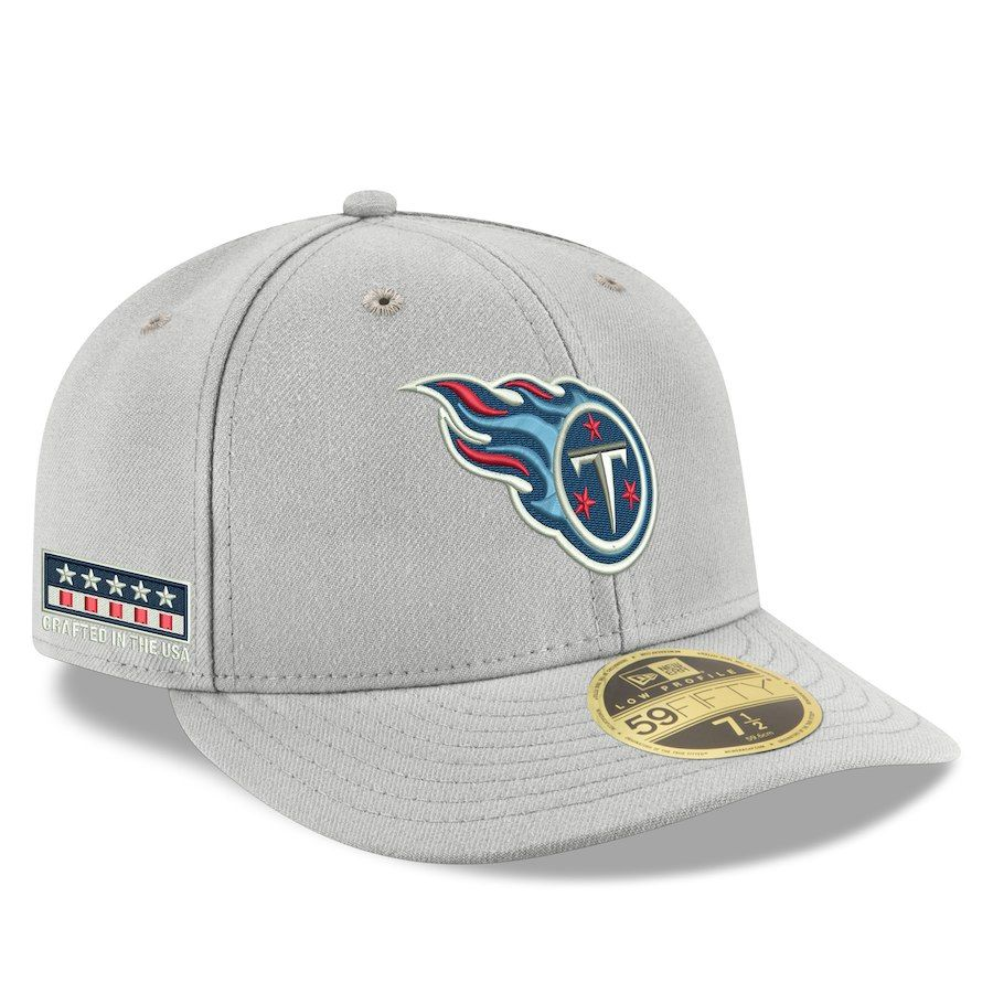 ef4acfefe55 Men s Tennessee Titans New Era Gray Crafted in the USA Low Profile 59FIFTY  Fitted Hat