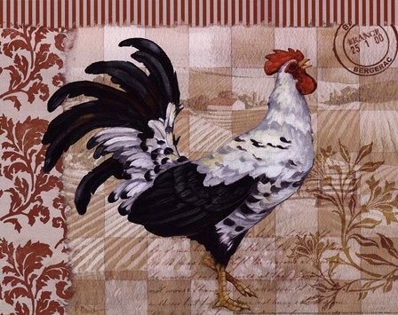 Bergerac Rooster Red I - mini Fine-Art Print by Paul Brent at FulcrumGallery.com